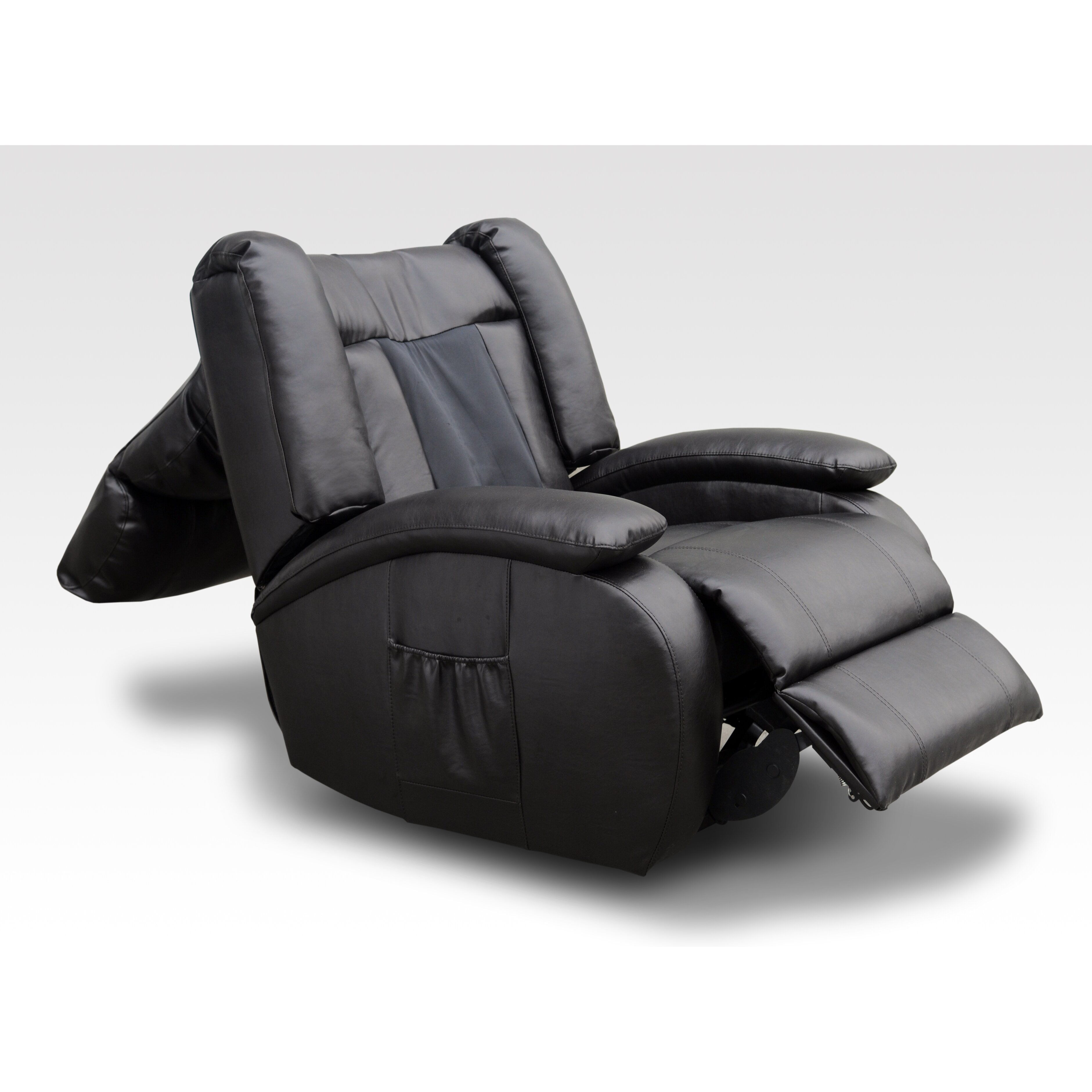 AC Pacific Bonded Leather Reclining Massage Chair Reviews Wayfair