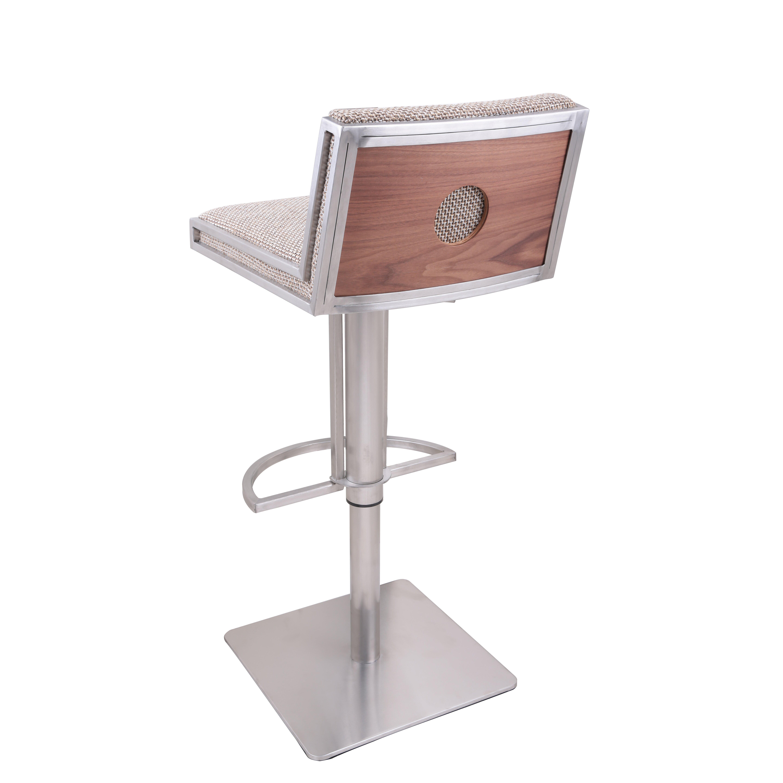 Ac Pacific Adjustable Height Swivel Bar Stool Wayfair
