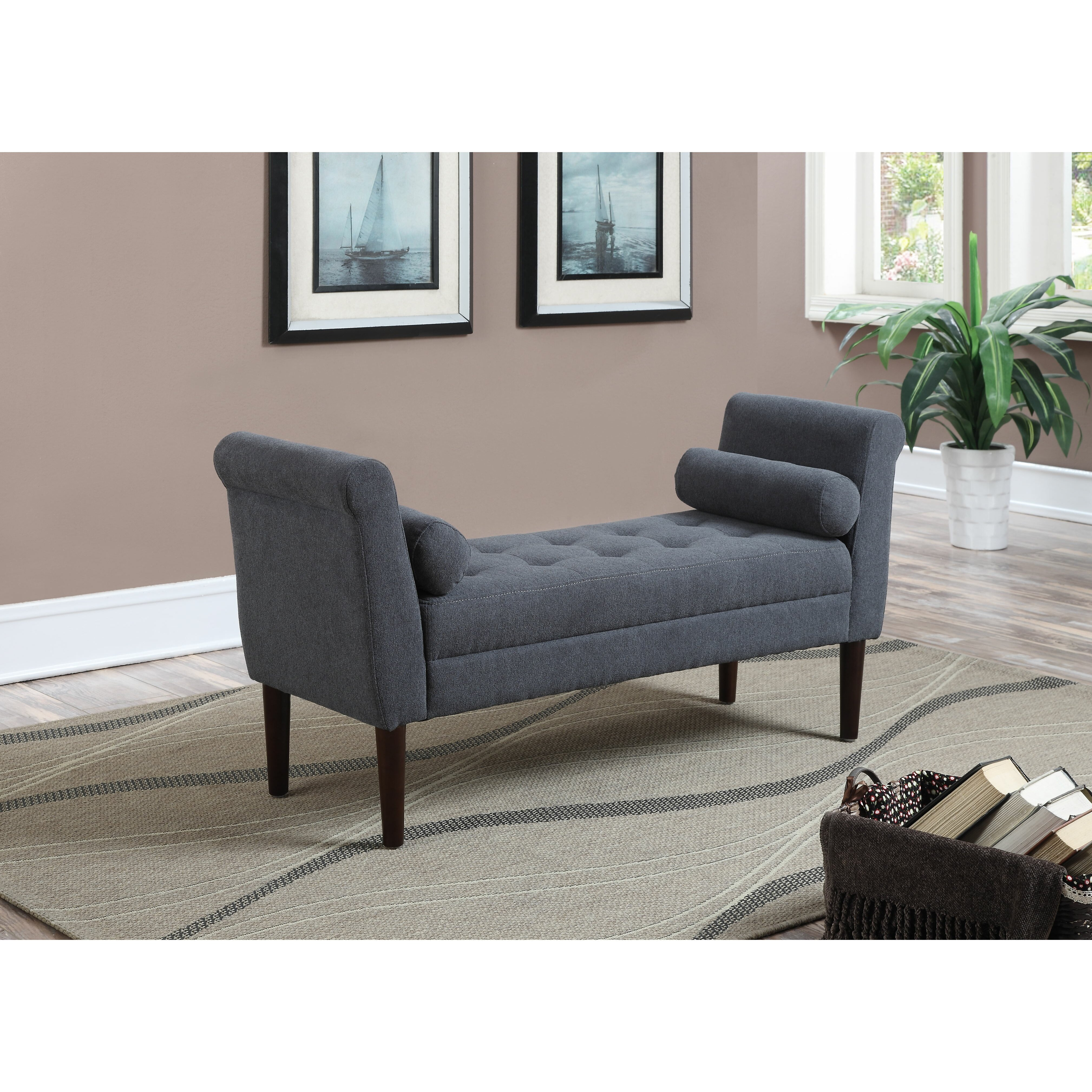 Ac Pacific Betty Upholstered Bedroom Bench Reviews Wayfair