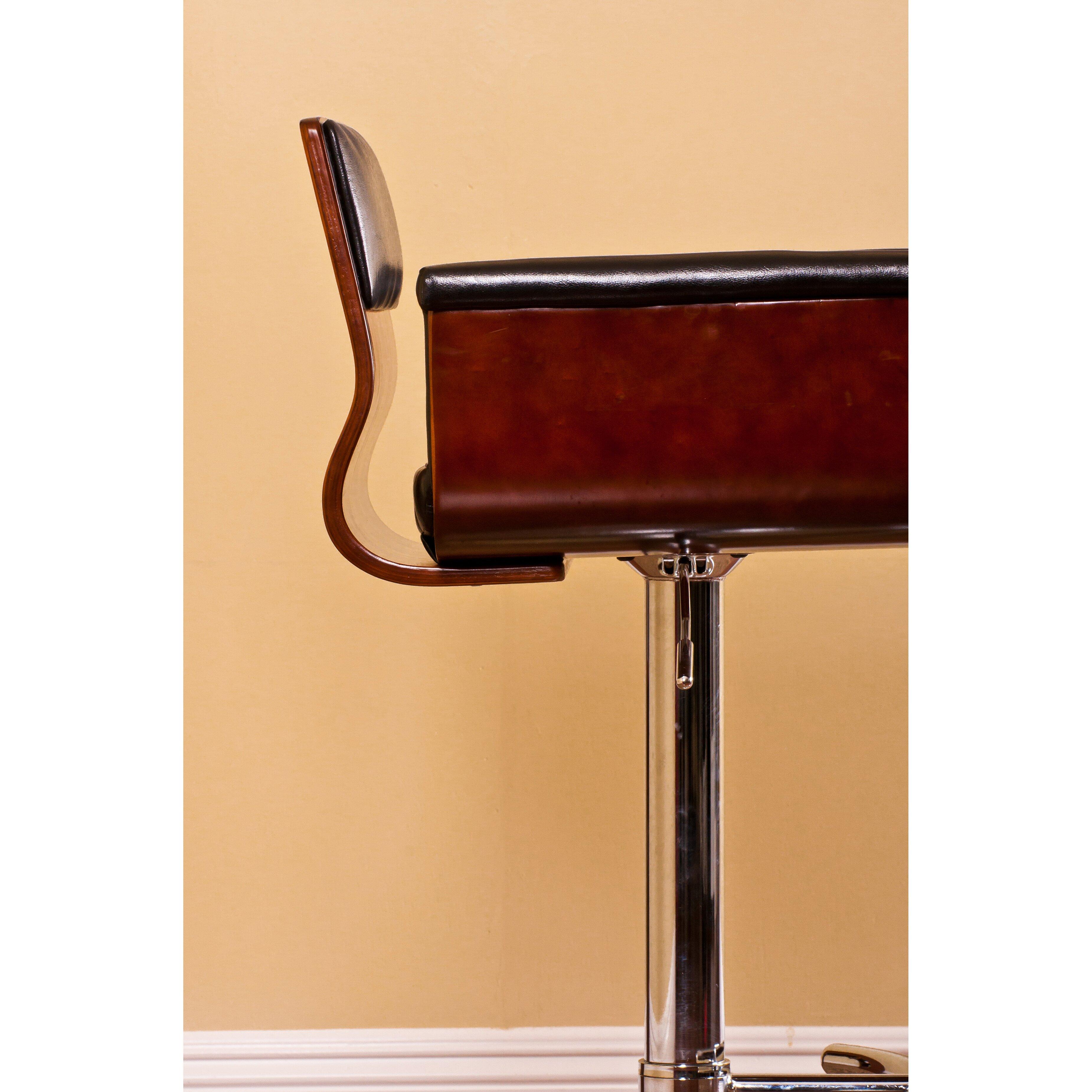 AC Pacific Adjustable Height Swivel Arm Bar Stool  : AC Pacific Adjustable Height Swivel Arm Bar Stool from www.wayfair.com size 3700 x 3700 jpeg 1541kB