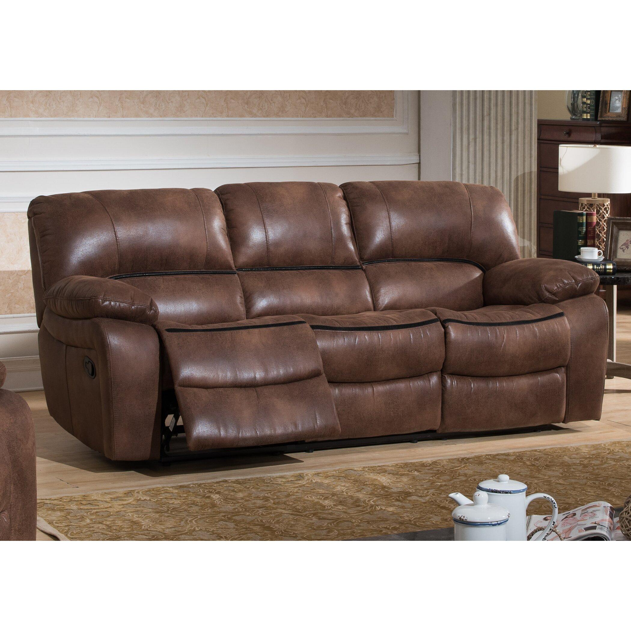 ac pacific leighton 3 piece reclining living room set