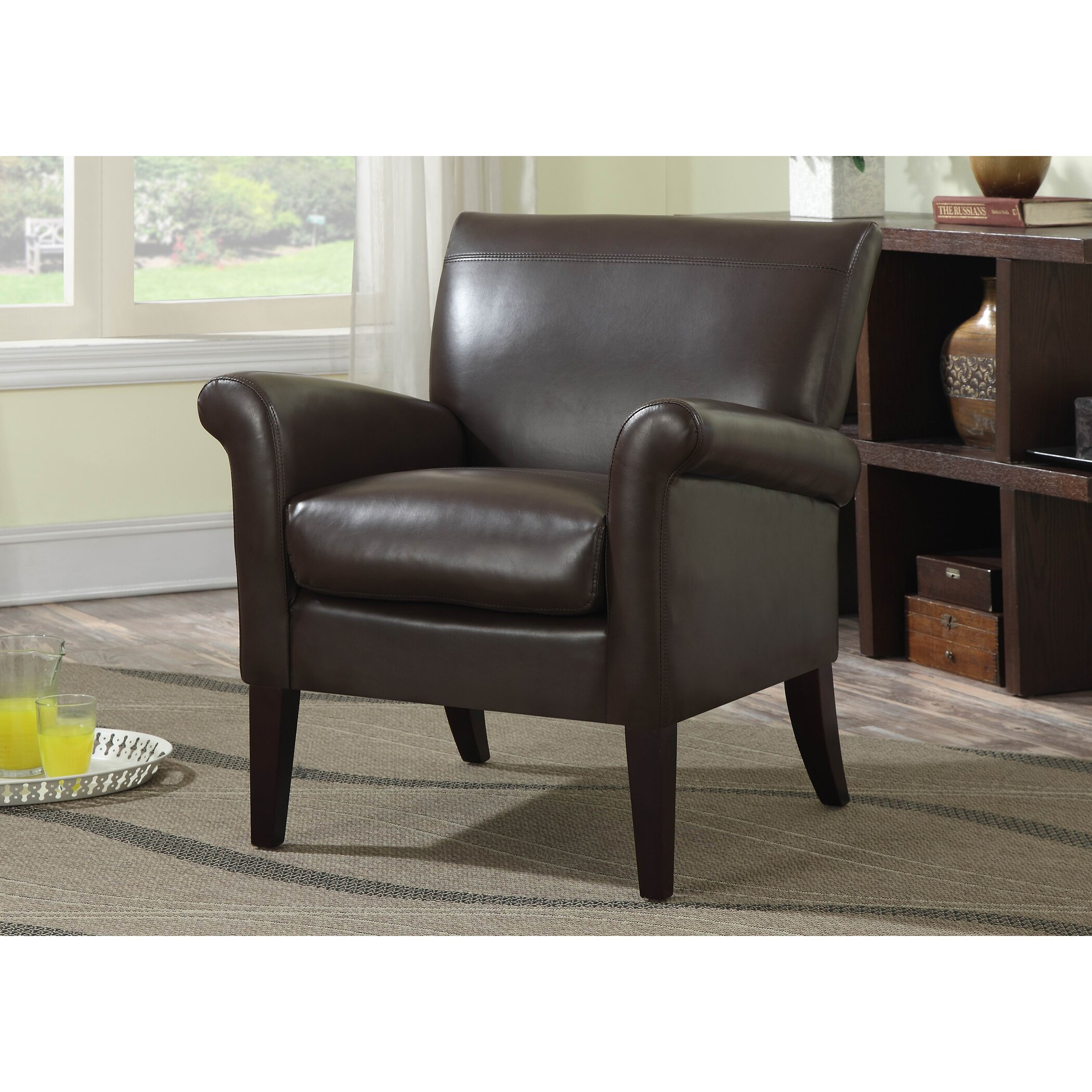 Ac Pacific Fiona Transitional Arm Chair