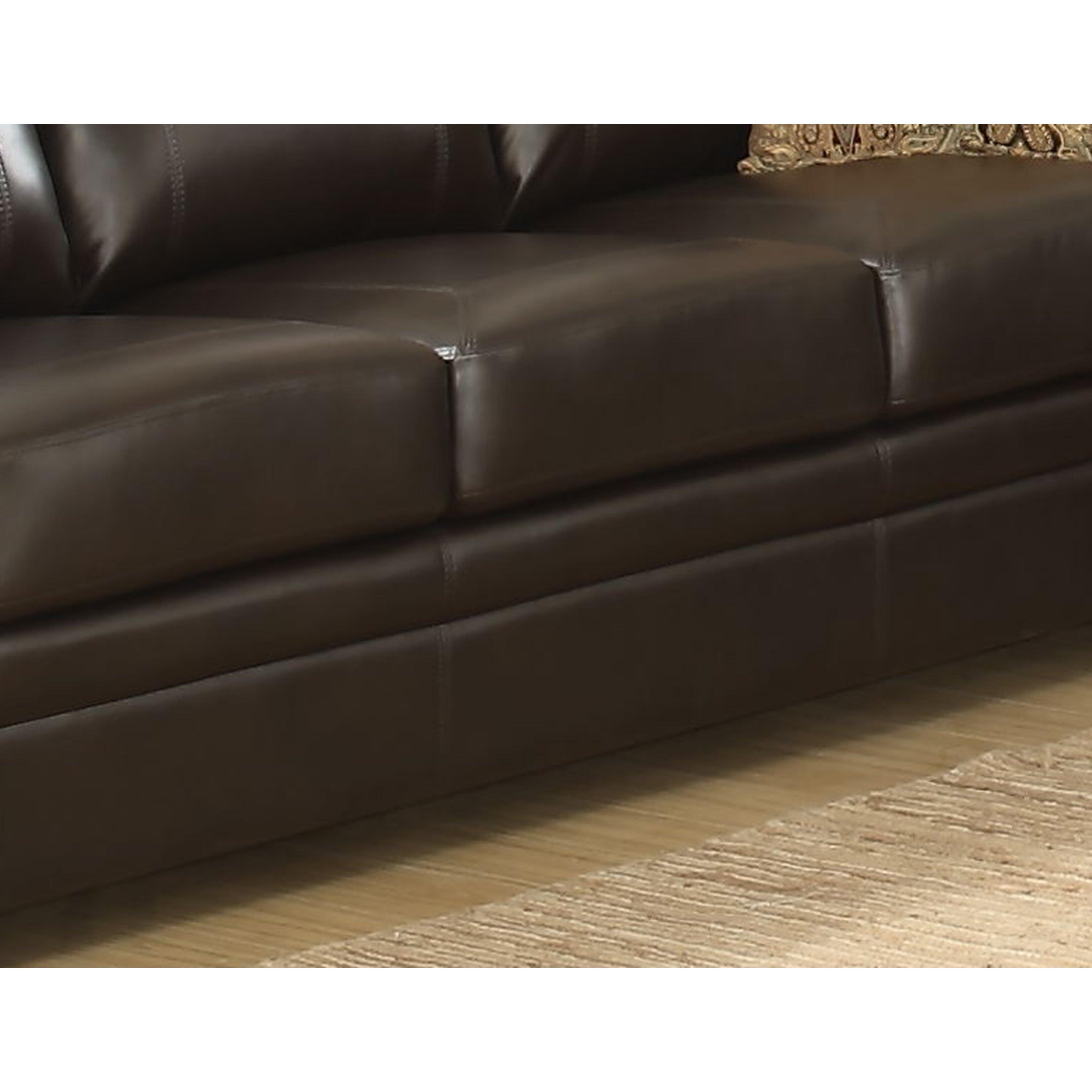 Ac Pacific Louis Stationary Leather Sofa Wayfair