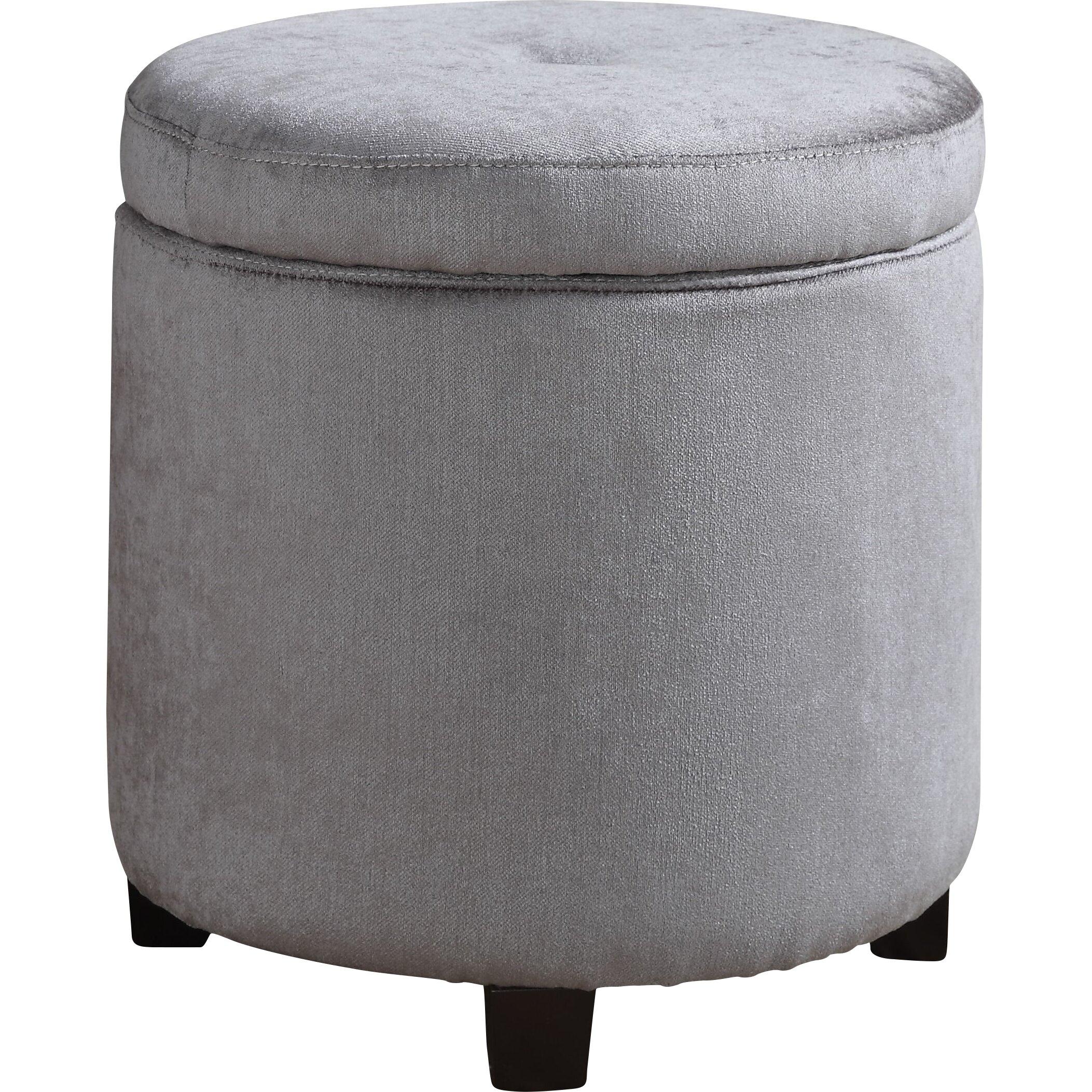 Ac pacific mia small round storage ottoman wayfair Round storage ottoman