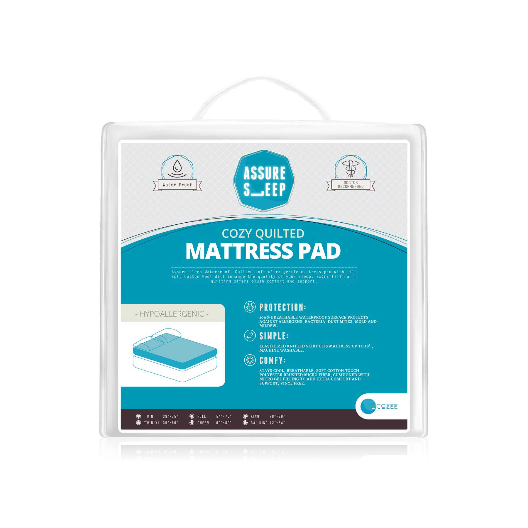 LaCozee Assure Sleep Circle Quilted Waterproof Mattress