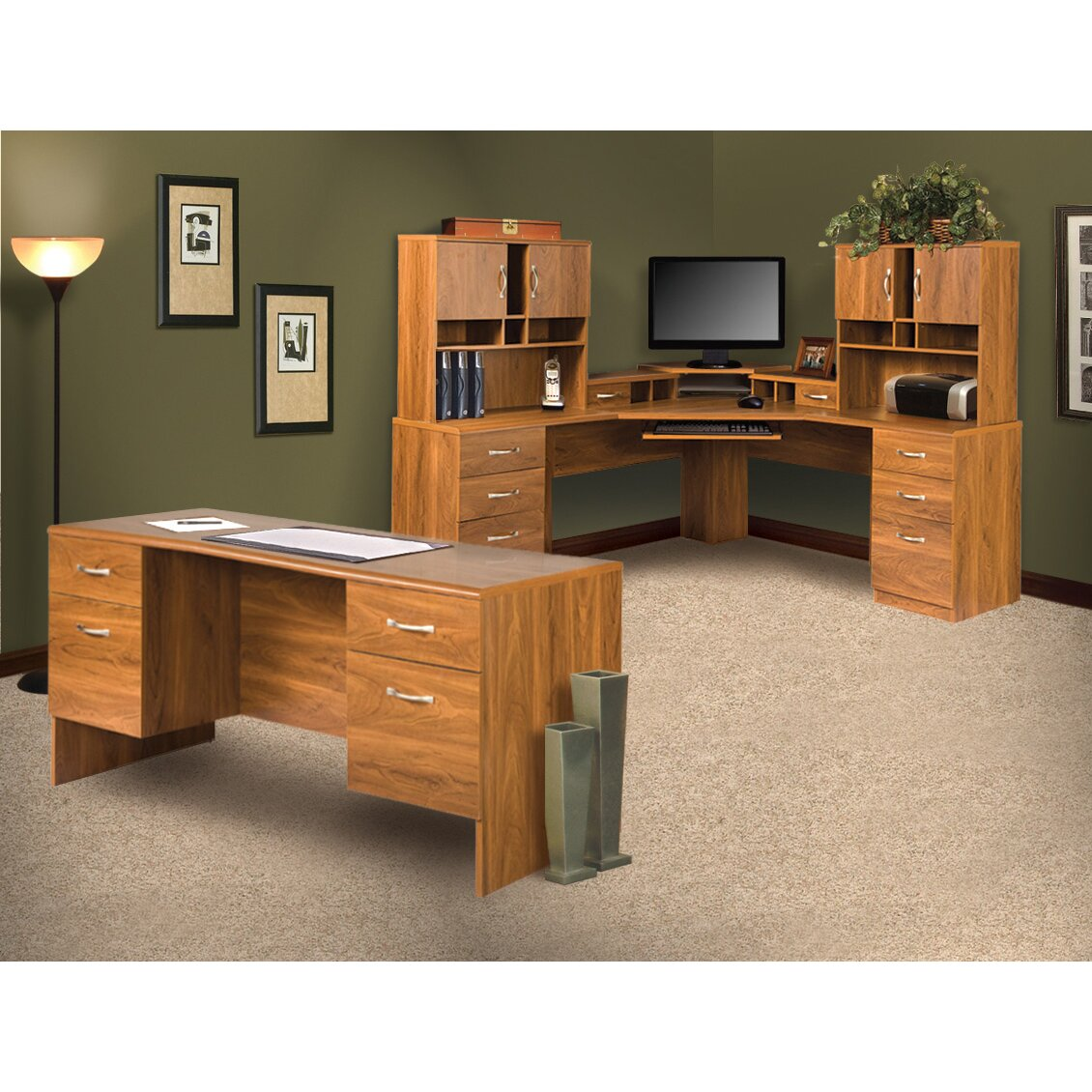 Os home office furniture office adaptations l shape L shaped office desk
