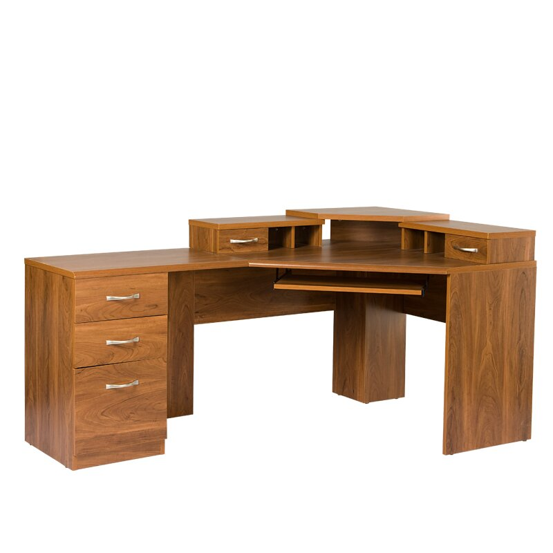 Os home office furniture office adaptations reversible corner computer desk reviews wayfair - Corner office desk ...