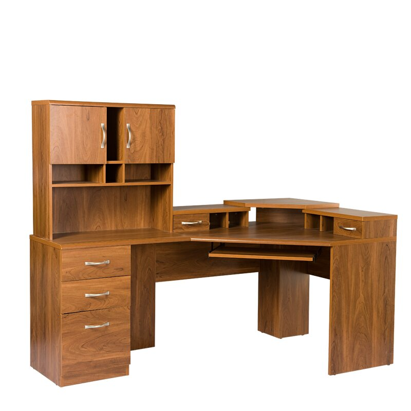 Os home office furniture office adaptations computer desk with hutch reviews wayfair - Home office desk with hutch ...