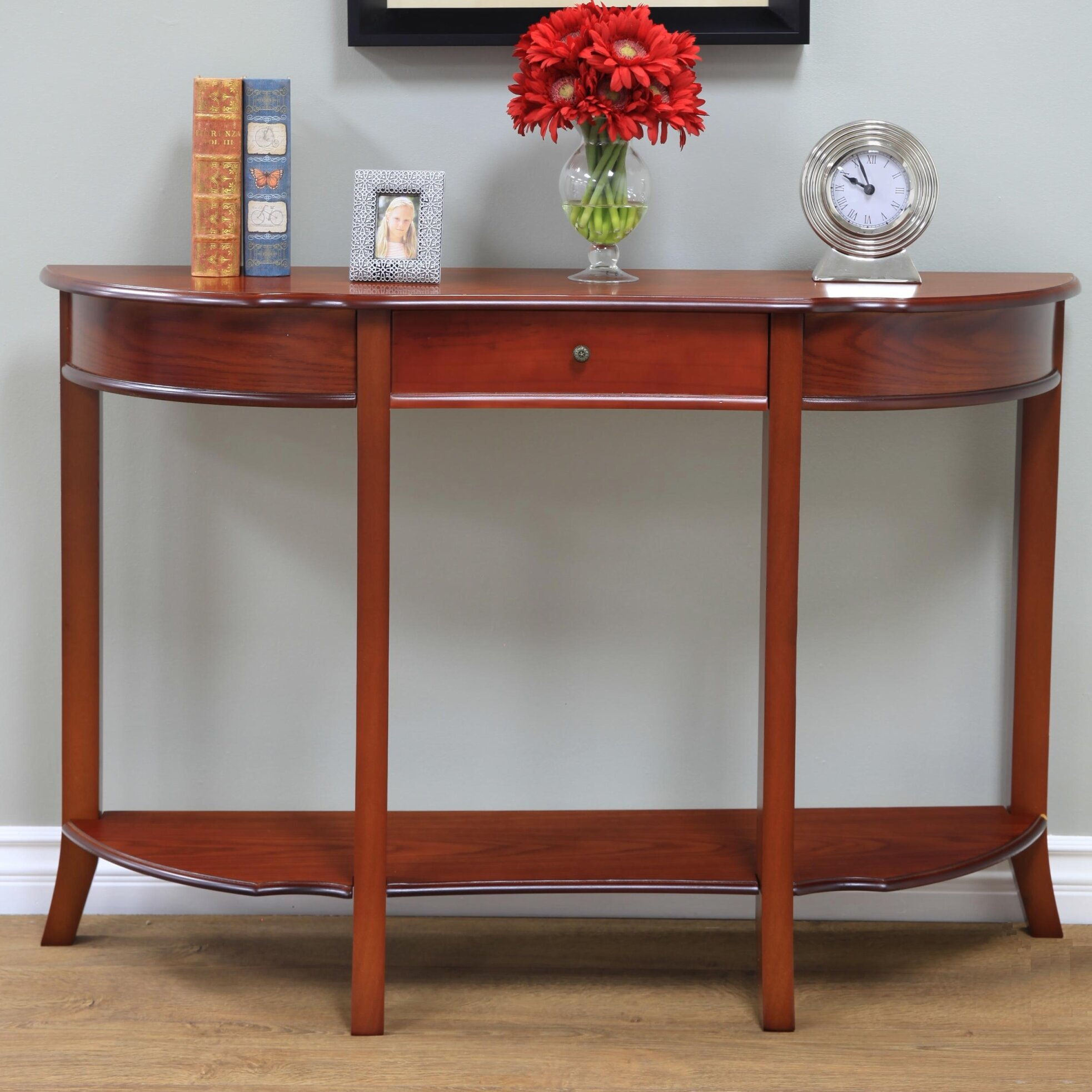mega home console table reviews wayfair. Black Bedroom Furniture Sets. Home Design Ideas