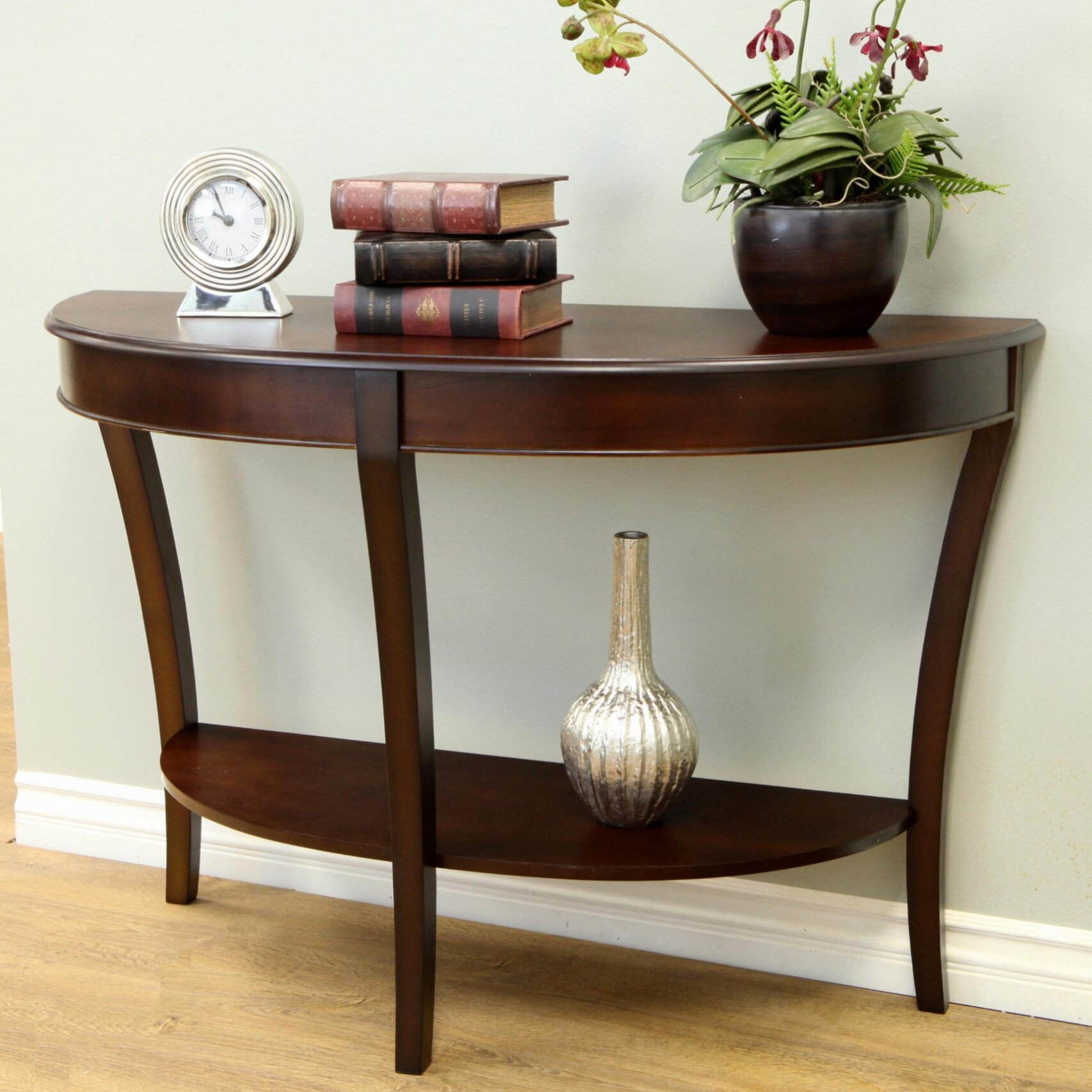 Three Posts Hickory Half Round Console Table Amp Reviews