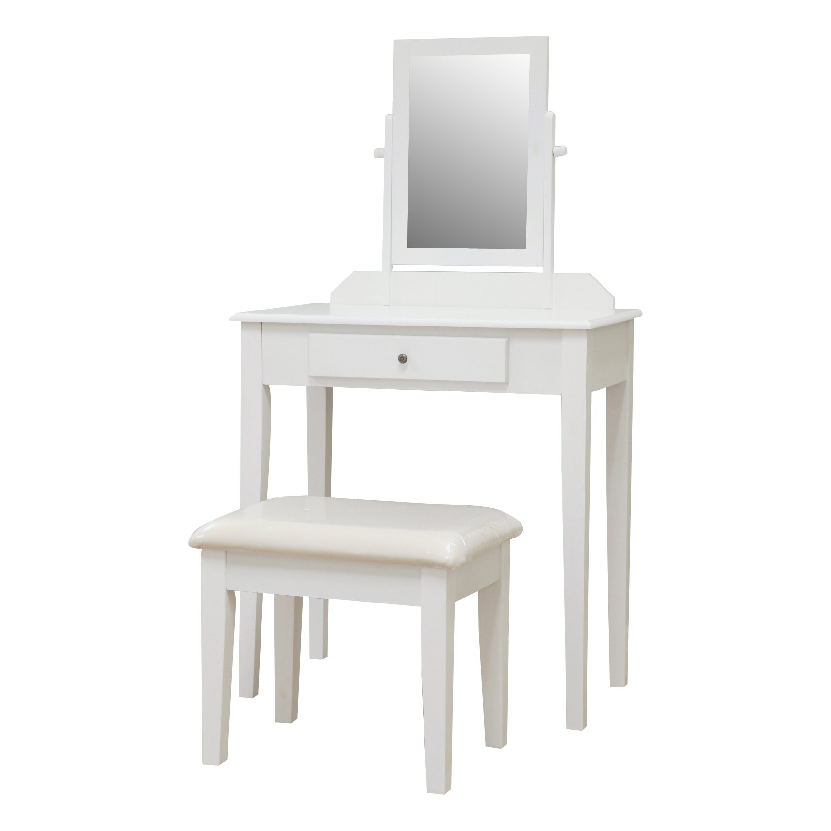 Mega home contemporary vanity set with mirror reviews for Vanity set with mirror