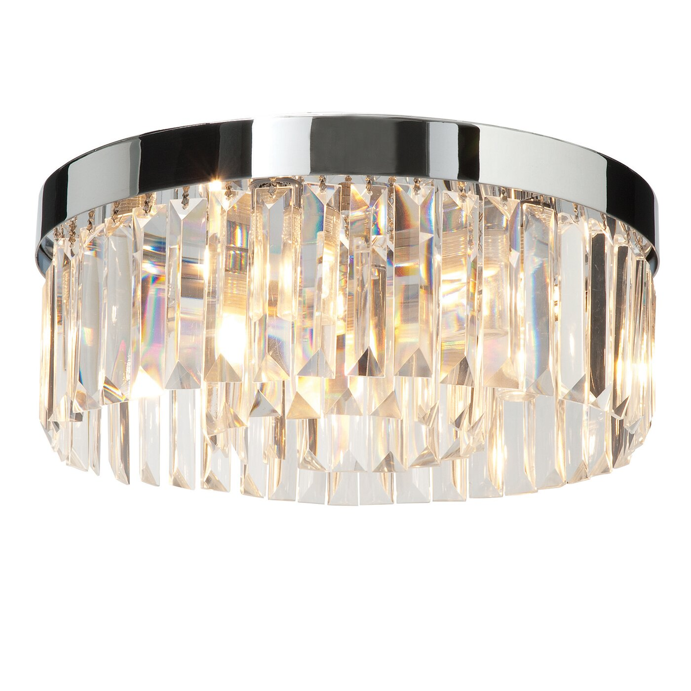 Saxby Lighting Crystal 5 Light Flush Ceiling Light