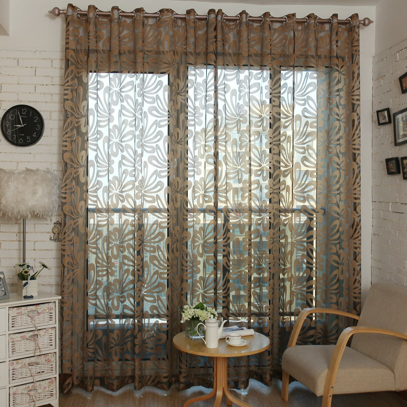 Dolce Mela Sheer Single Curtain Panel Wayfair