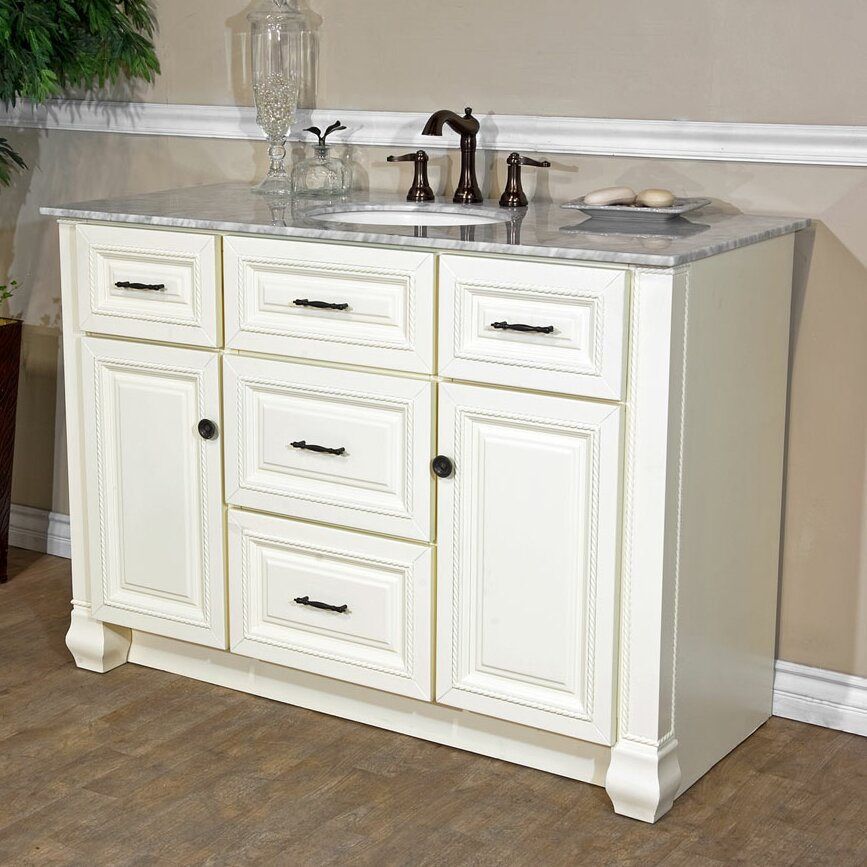 "Bellaterra Home 50"" Single Bathroom Vanity Set & Reviews"