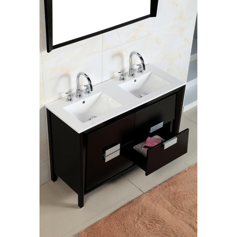 bellaterra home 48 double sink vanity set reviews. Black Bedroom Furniture Sets. Home Design Ideas