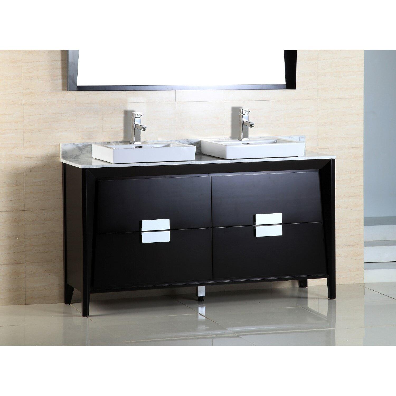 Double Sink Vanity 60 : Bellaterra Home 60