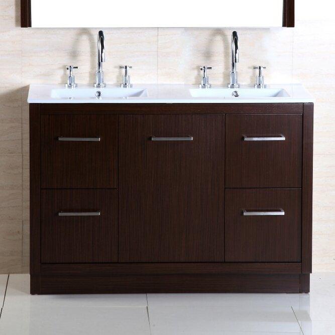 bellaterra home 48 double sink vanity set wayfair