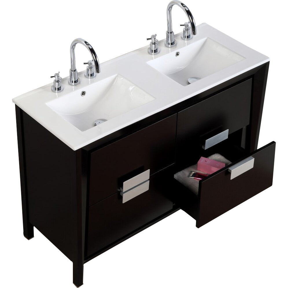 48 double sink bathroom vanity bellaterra home 48 quot sink vanity set amp reviews wayfair 21835