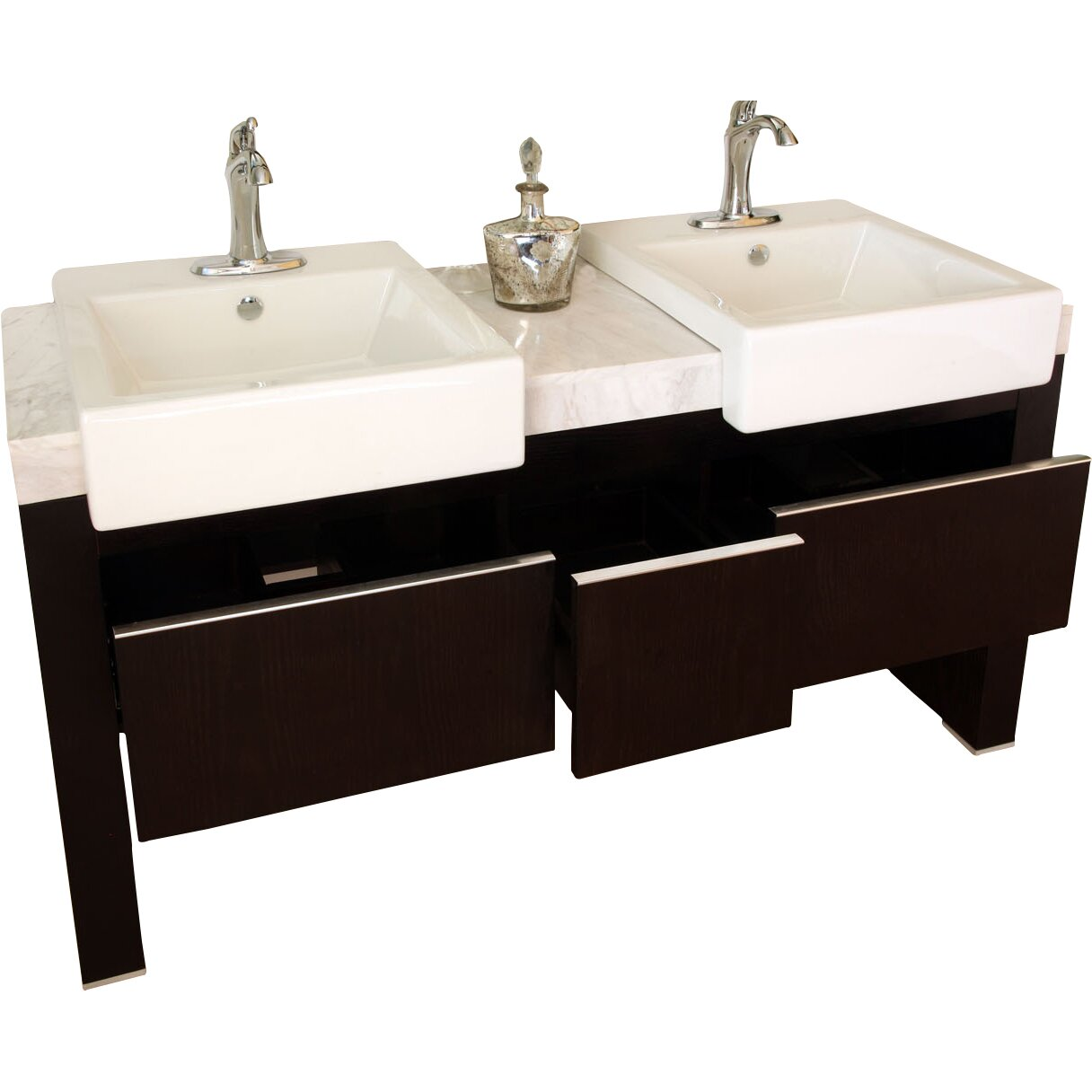 Bellaterra Home Essex 58 Double Bathroom Vanity Set