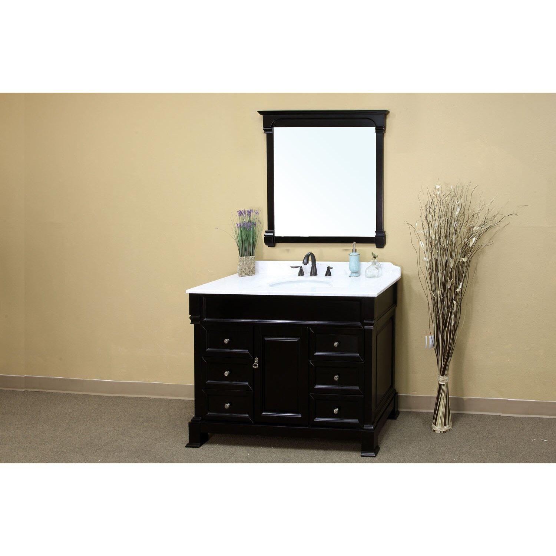"""Bellaterra Home Habersham 50"""" Single Bathroom Vanity Set & Reviews"""