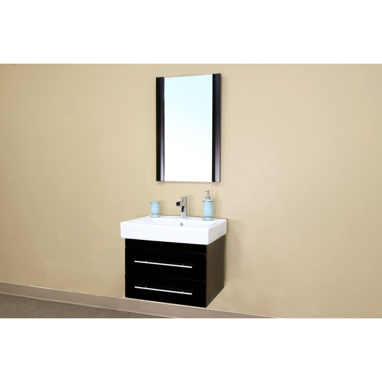 pickering 25 single wall mounted bathroom vanity set by bellaterra