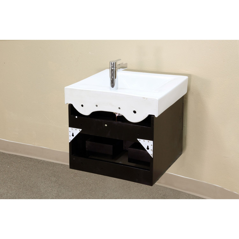 "Bellaterra Home Pickering 25"" Single Wall Mounted Bathroom"