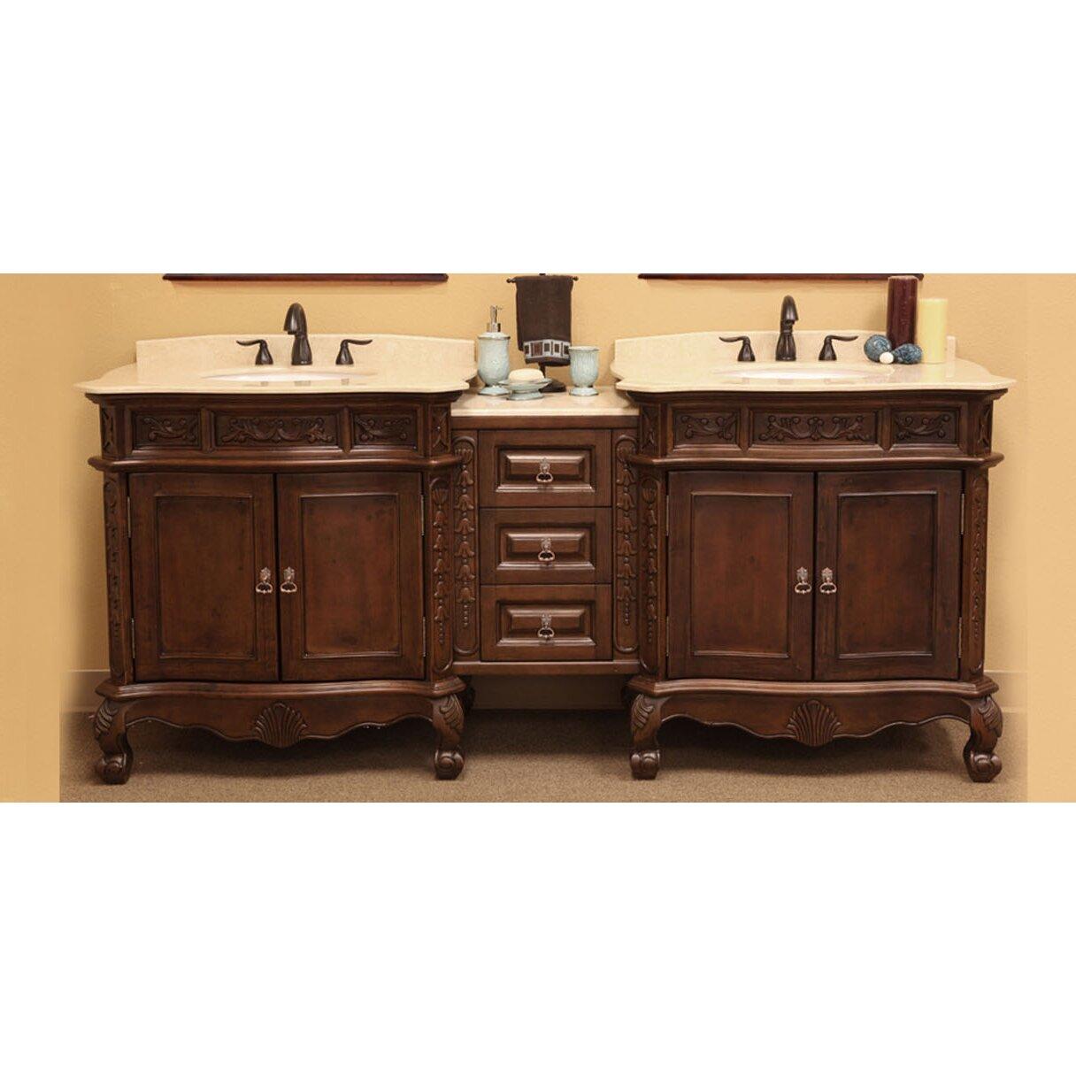 Bellaterra Home Elbridge 83 Double Bathroom Vanity Set Wayfair