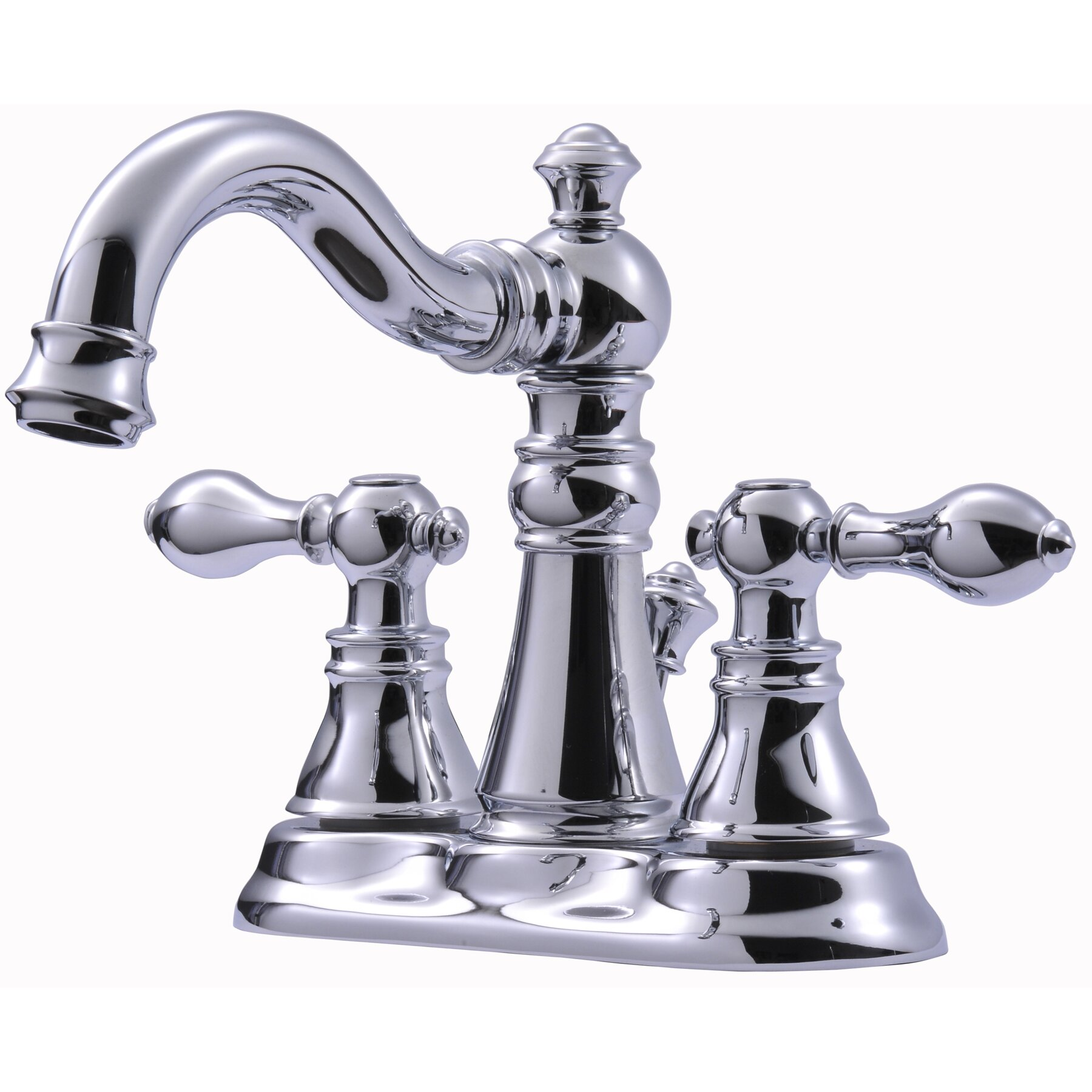 Victorian Gooseneck Lavatory Faucet With Metal Cross Handles In Orb Possible Faucet For Powder: Ultra Faucets Victorian Series Centerset Bathroom Faucet With Double Handles & Reviews