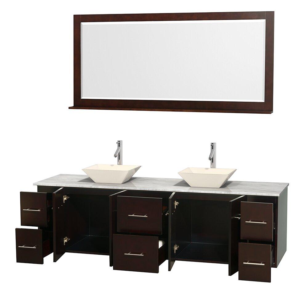 wyndham collection centra 80 quot bathroom vanity set