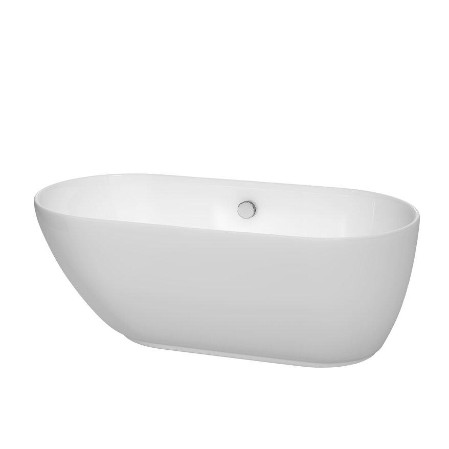 """Wyndham Collection Melissa 60"""" X 29"""" Freestanding Bathtub"""