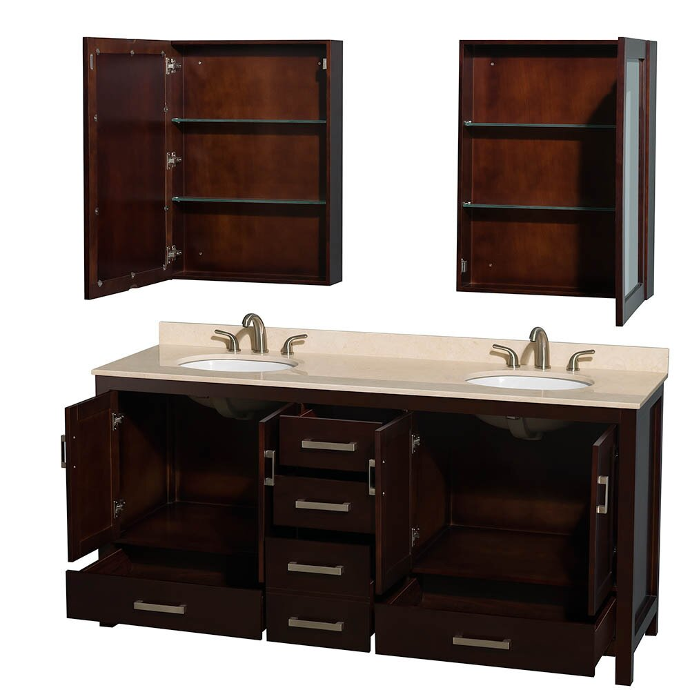 wyndham collection sheffield 72 double bathroom vanity base reviews wayfair ForSheffield 72 Double Bathroom Vanity