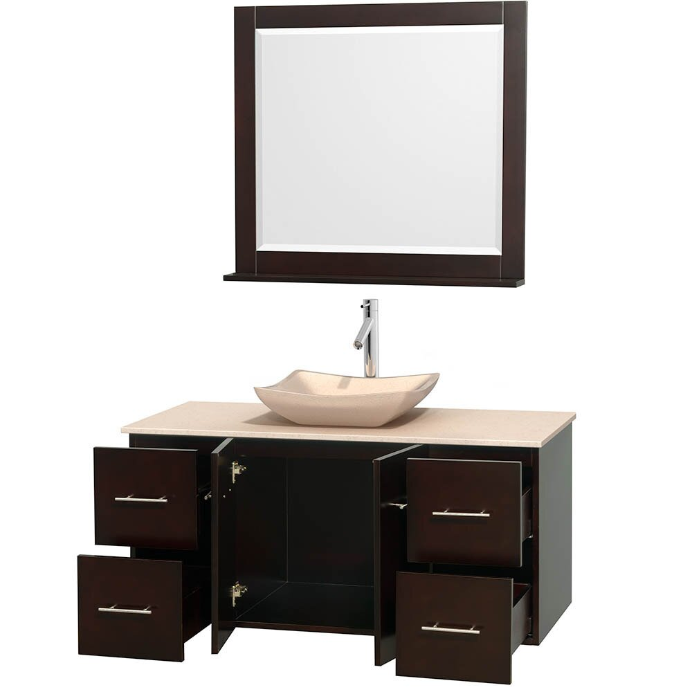 wyndham collection centra 48 quot single bathroom vanity base