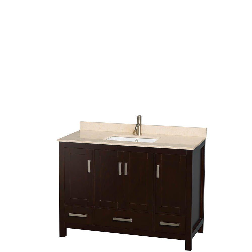 Wyndham collection sheffield 48 single bathroom vanity for 48 inch bathroom vanity base