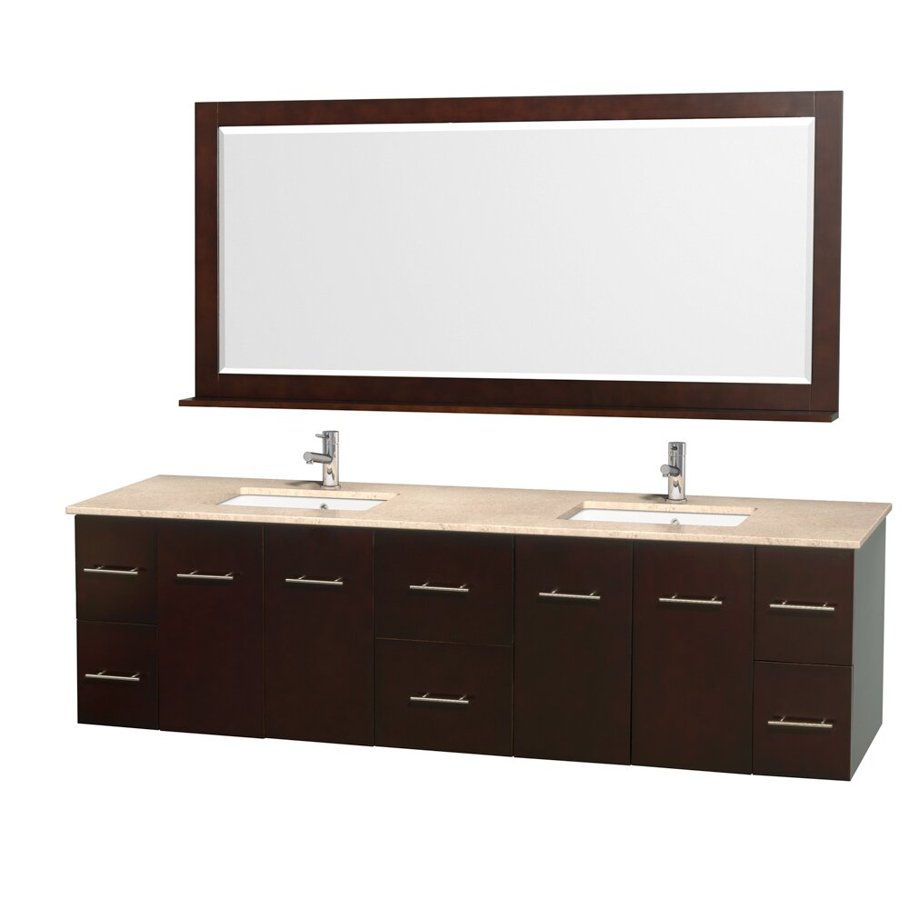 "Wyndham Bathroom Vanities: Wyndham Collection Centra 80"" Double Bathroom Vanity Base"
