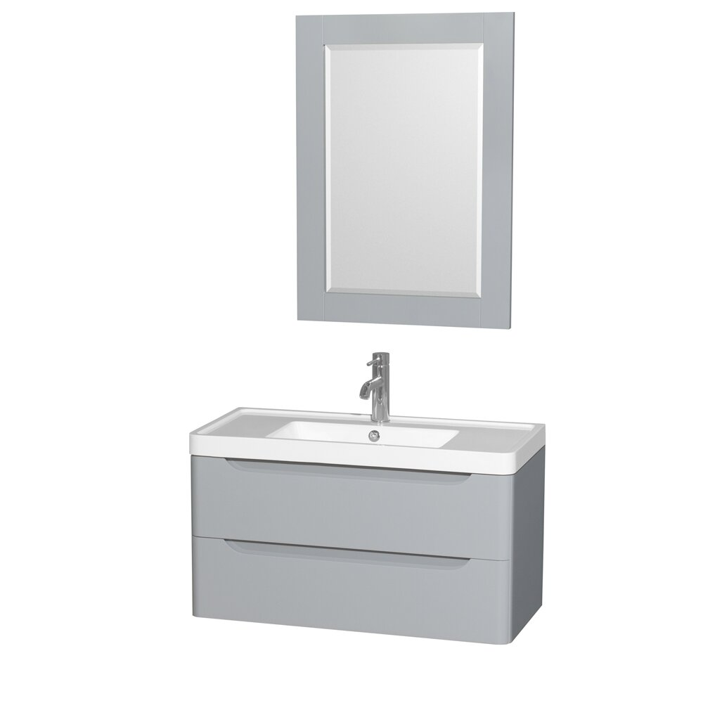"Wyndham Bathroom Vanities: Wyndham Collection Murano 36"" Single Grey Bathroom Vanity"