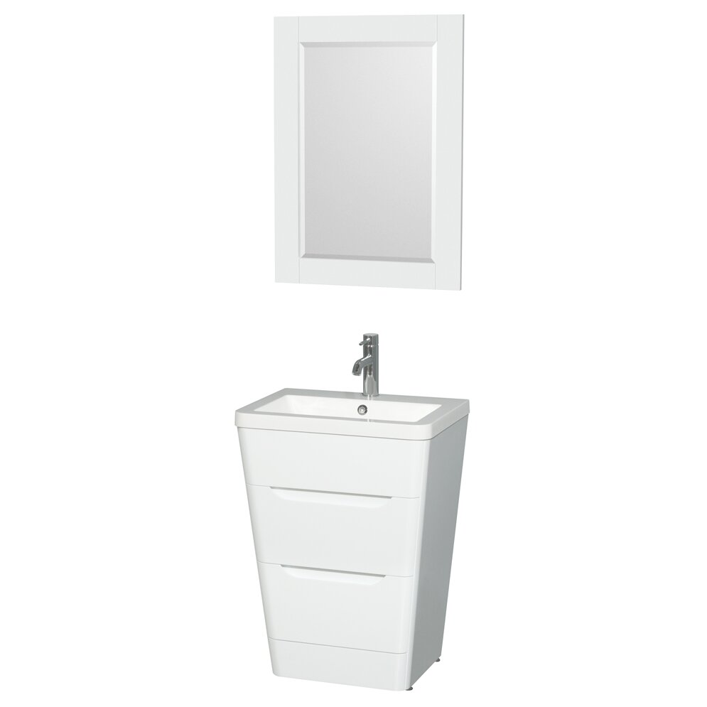 "Wyndham Collection Caprice 24"" Pedestal Bathroom Vanity"