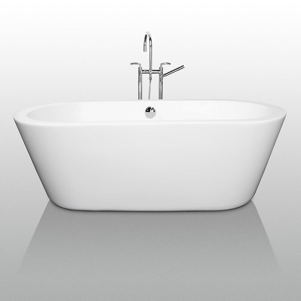 """Wyndham Collection Mermaid 67"""" X 32"""" Soaking Bathtub"""