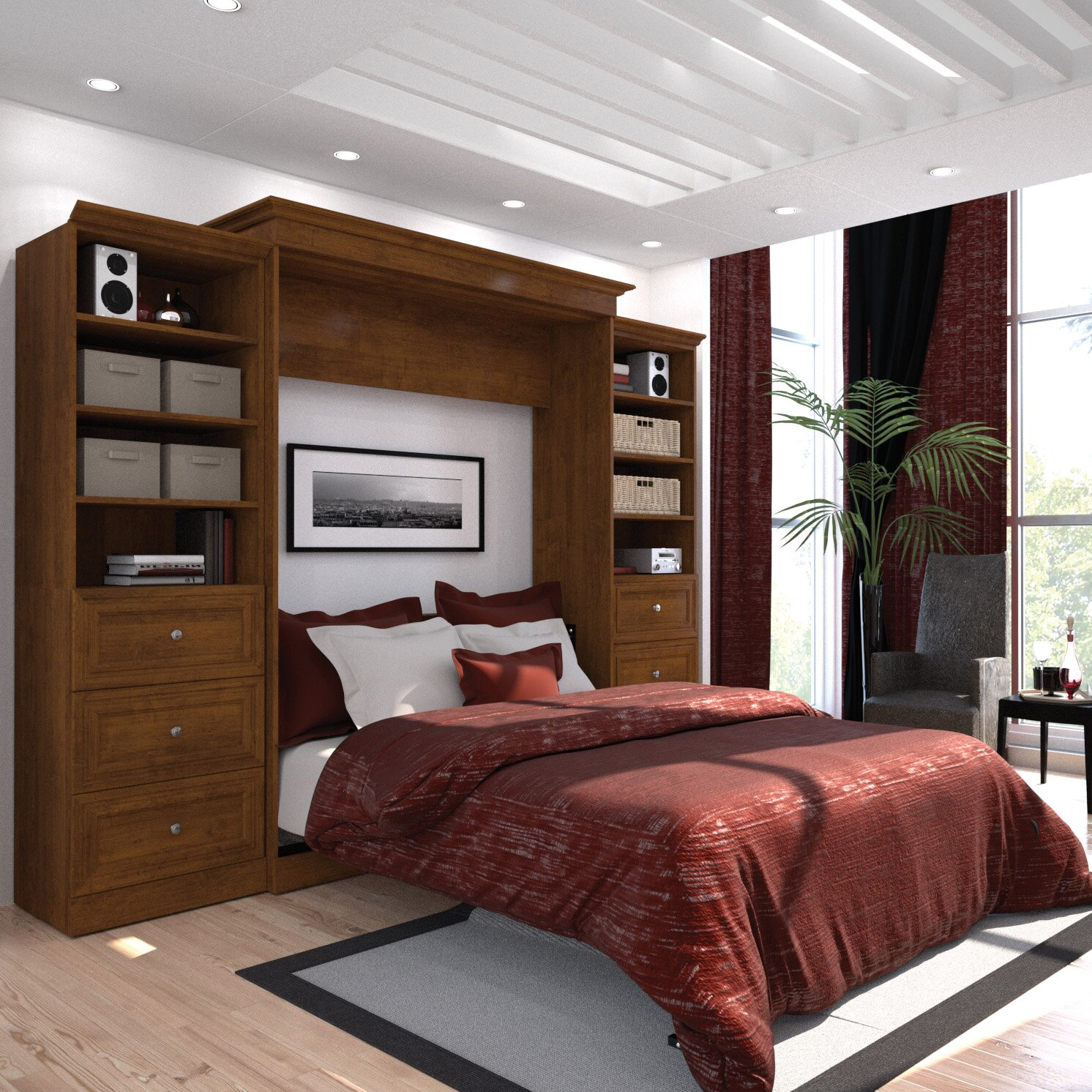 Costco Furniture Bed: Bestar Versatile Queen Murphy Bed & Reviews