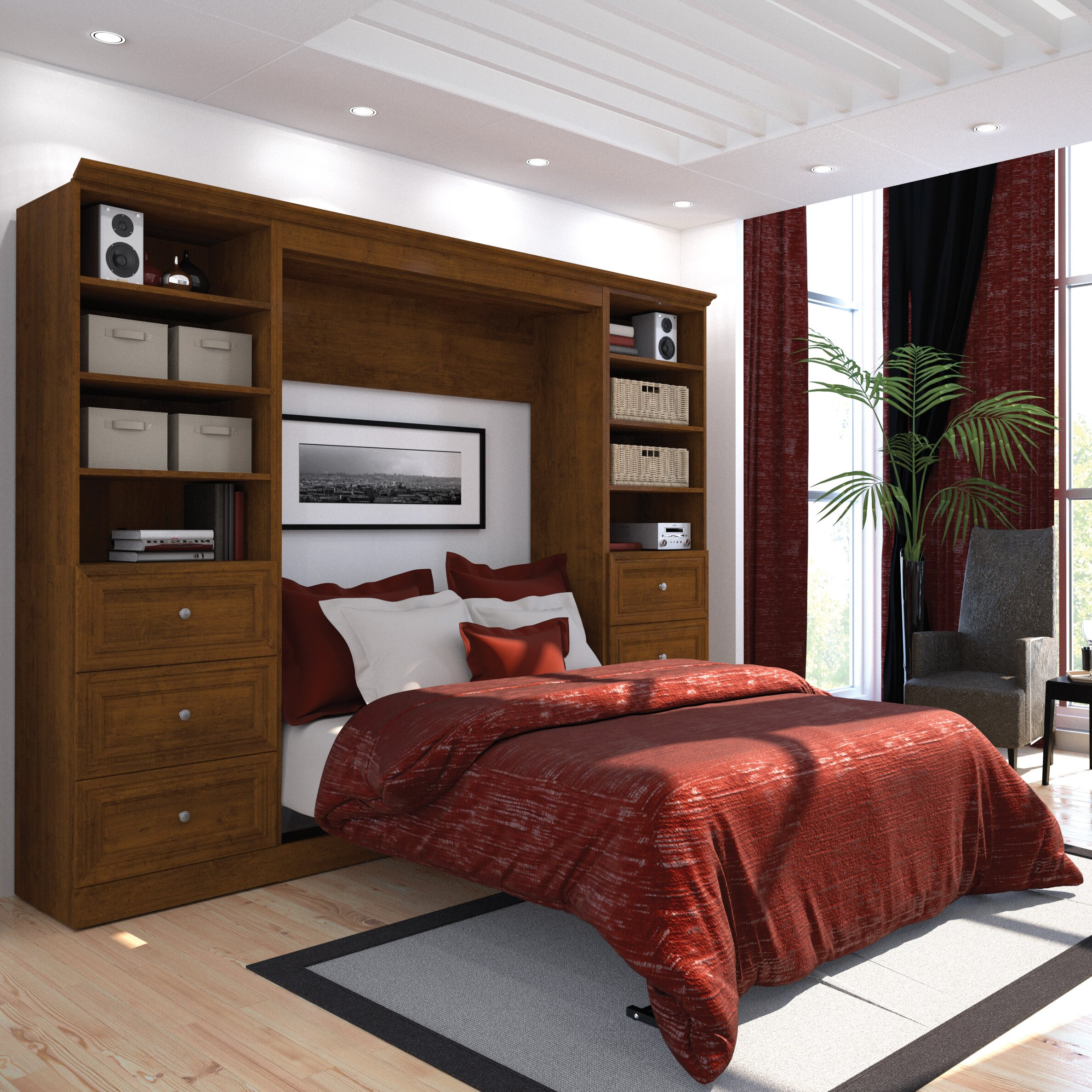 bestar versatile full double murphy bed reviews. Black Bedroom Furniture Sets. Home Design Ideas