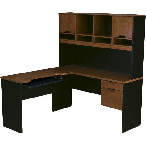 bestar innova l shape computer desk with hutch reviews wayfair. Black Bedroom Furniture Sets. Home Design Ideas