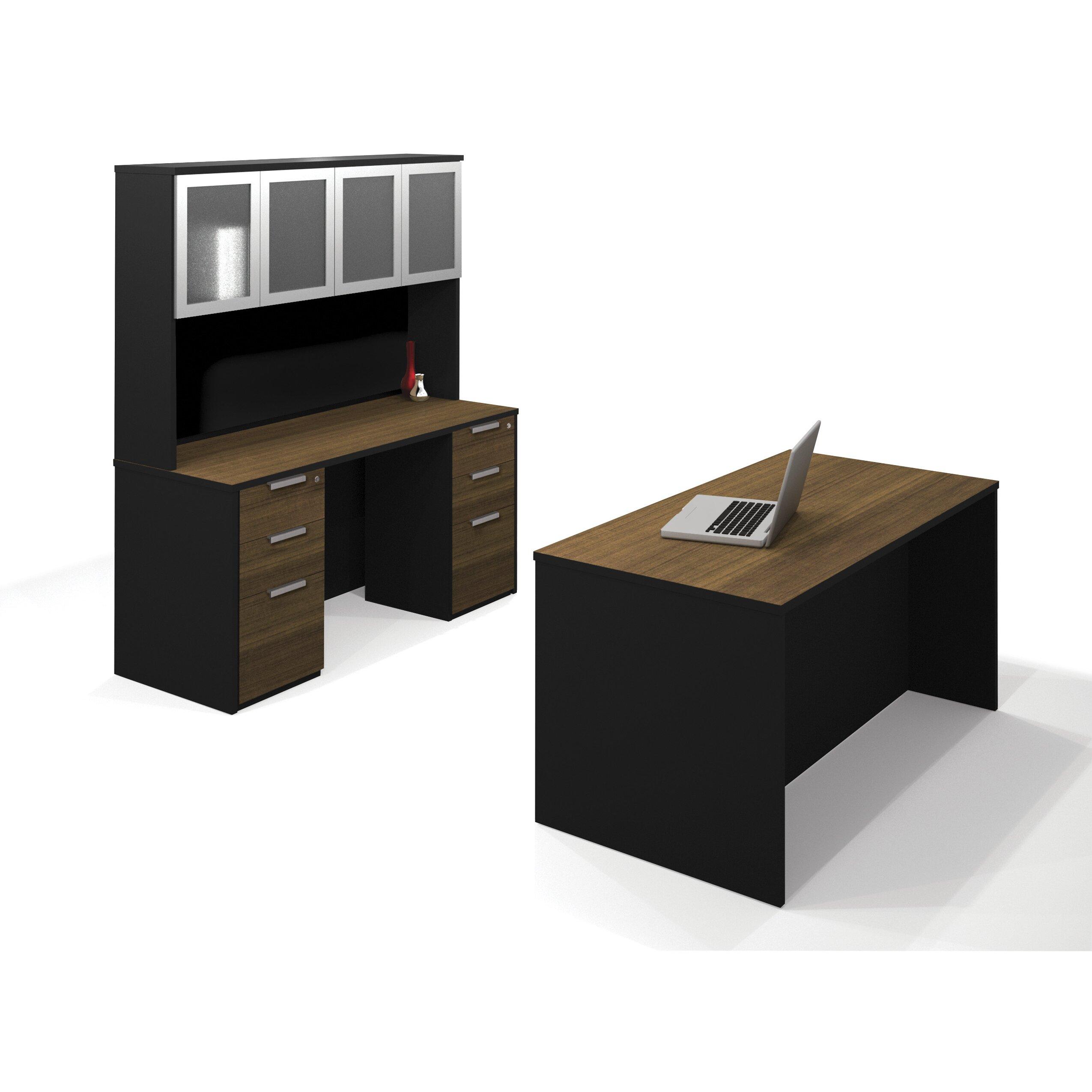 bestar pro concept 2 piece standard desk office suite