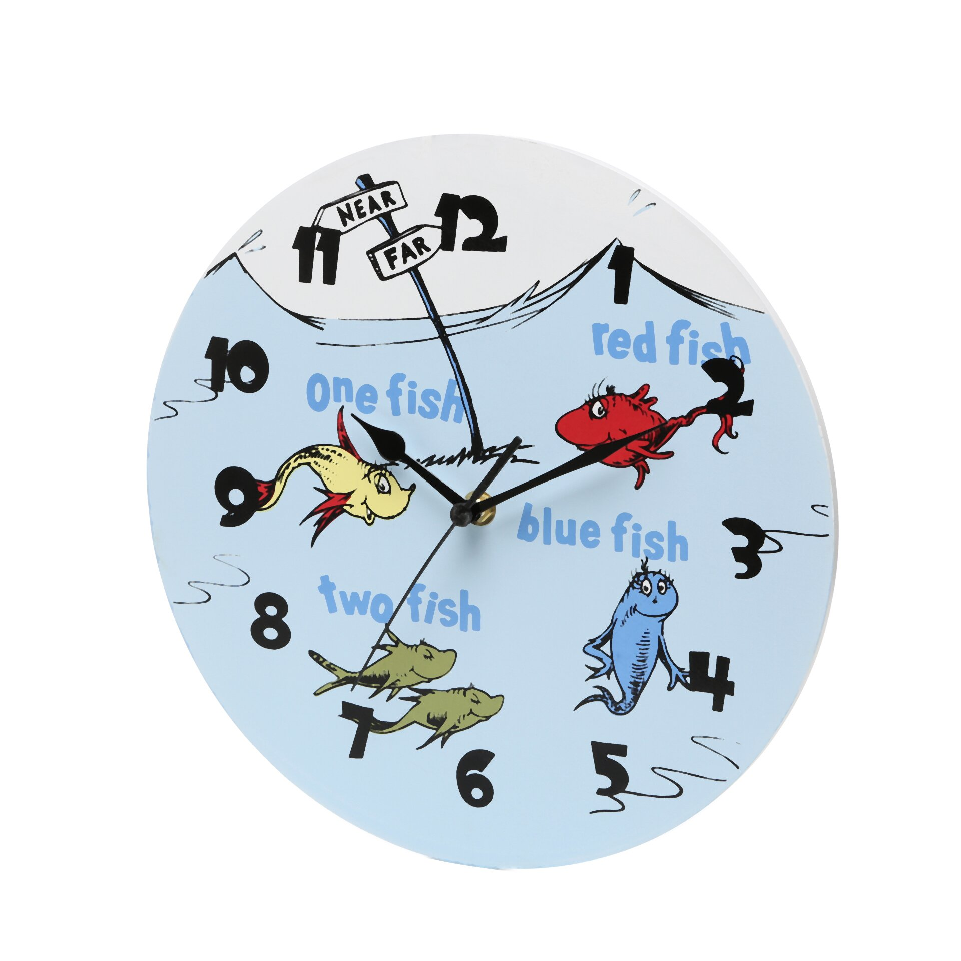 Trend Lab Dr Seuss One Fish Two Fish 11 Quot Wall Clock