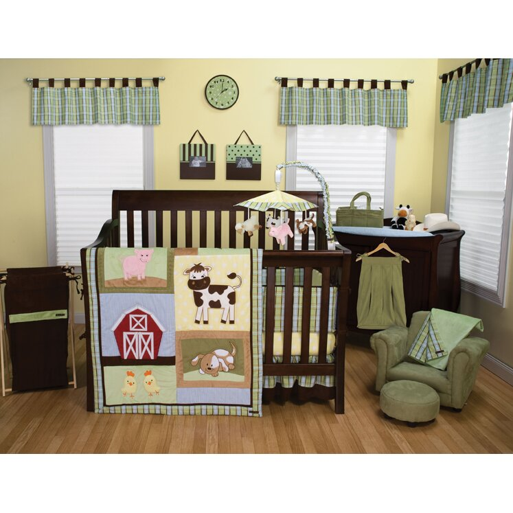 Trend Lab Baby Barnyard 3 Piece Crib Bedding Set Wayfair