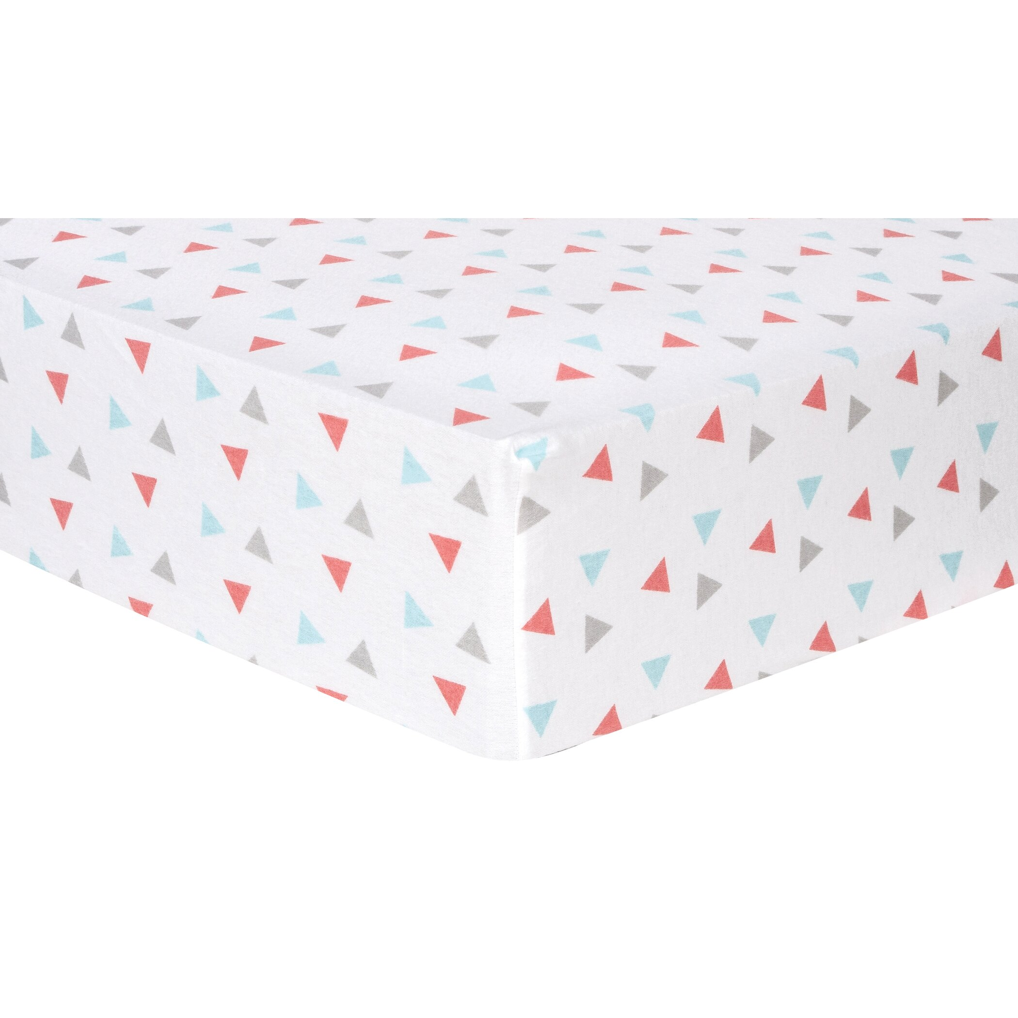 Trend Lab Triangles Deluxe Flannel Fitted Crib Sheet