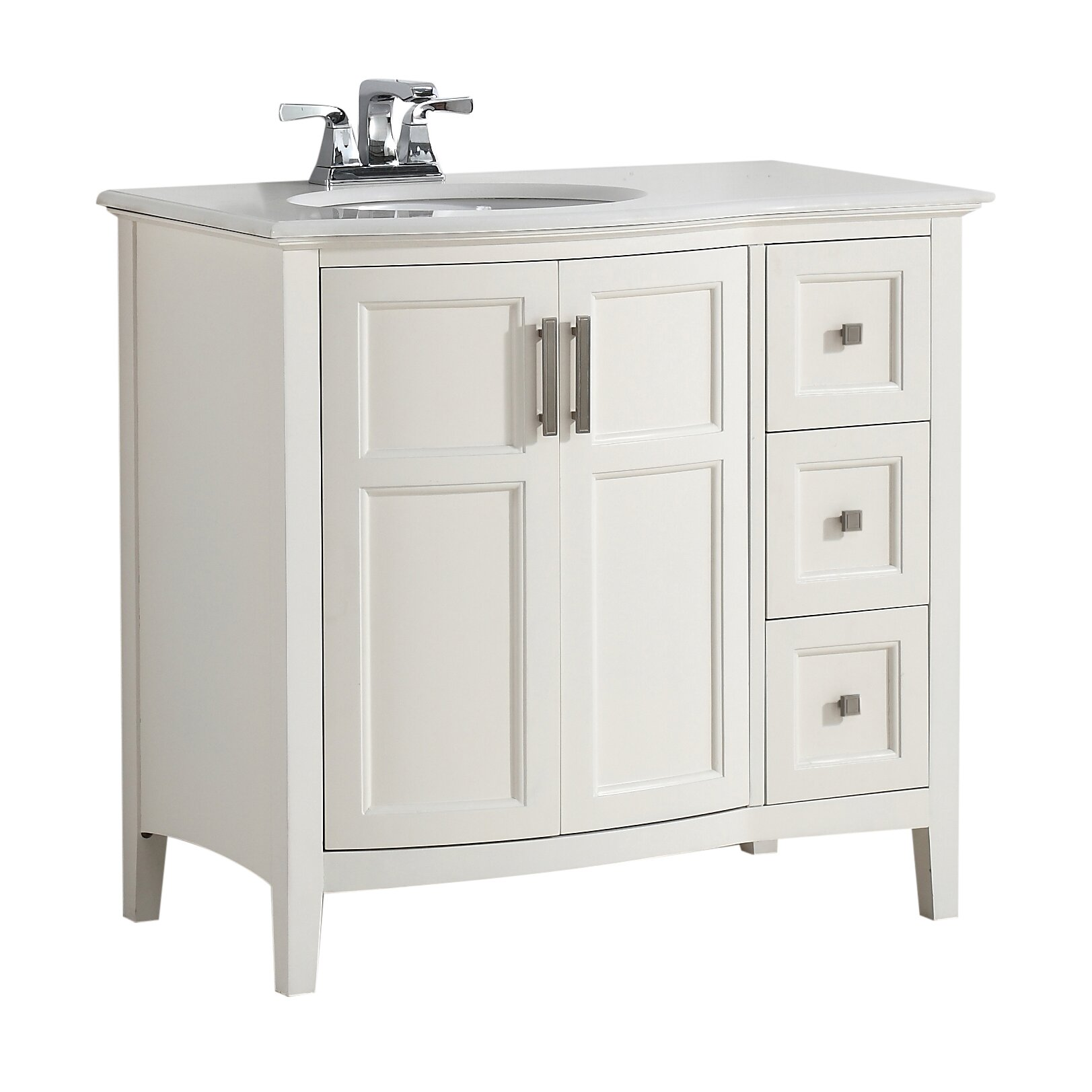 Simpli home winston 37 single rounded front bath vanity for Bath and vanity set