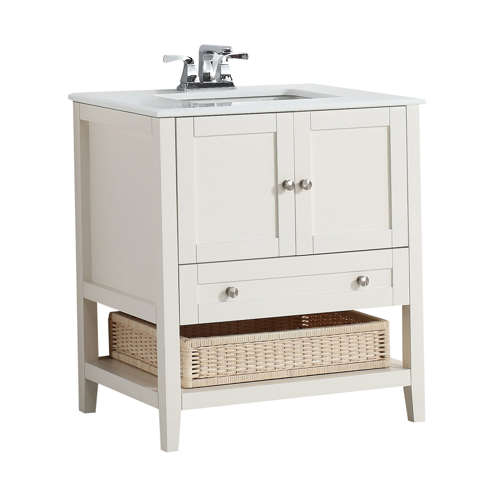 Simpli home cape cod 31 single bathroom vanity set for Bath and vanity set