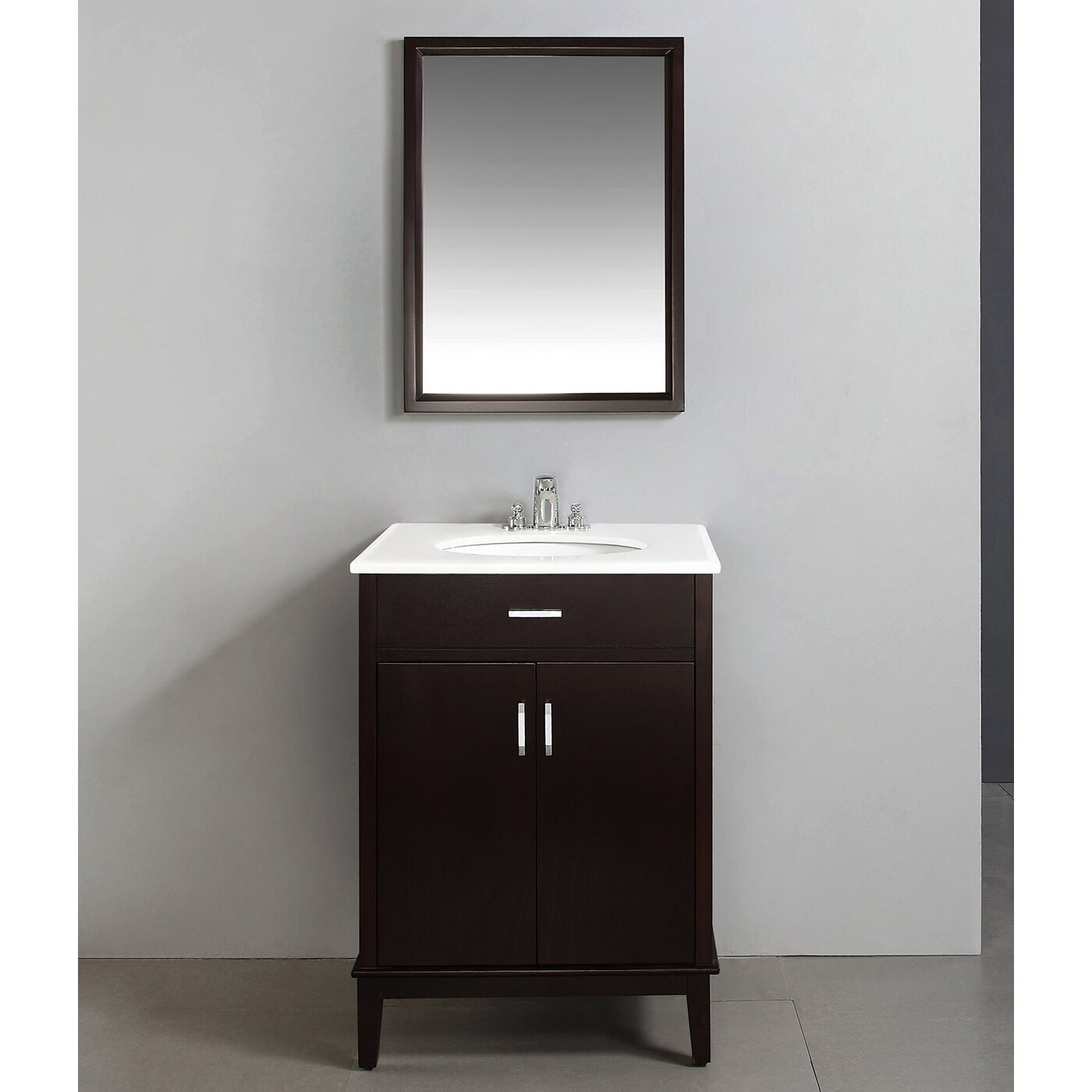 Simpli home urban loft 25 single bathroom vanity set for Bathroom cabinets urban ladder