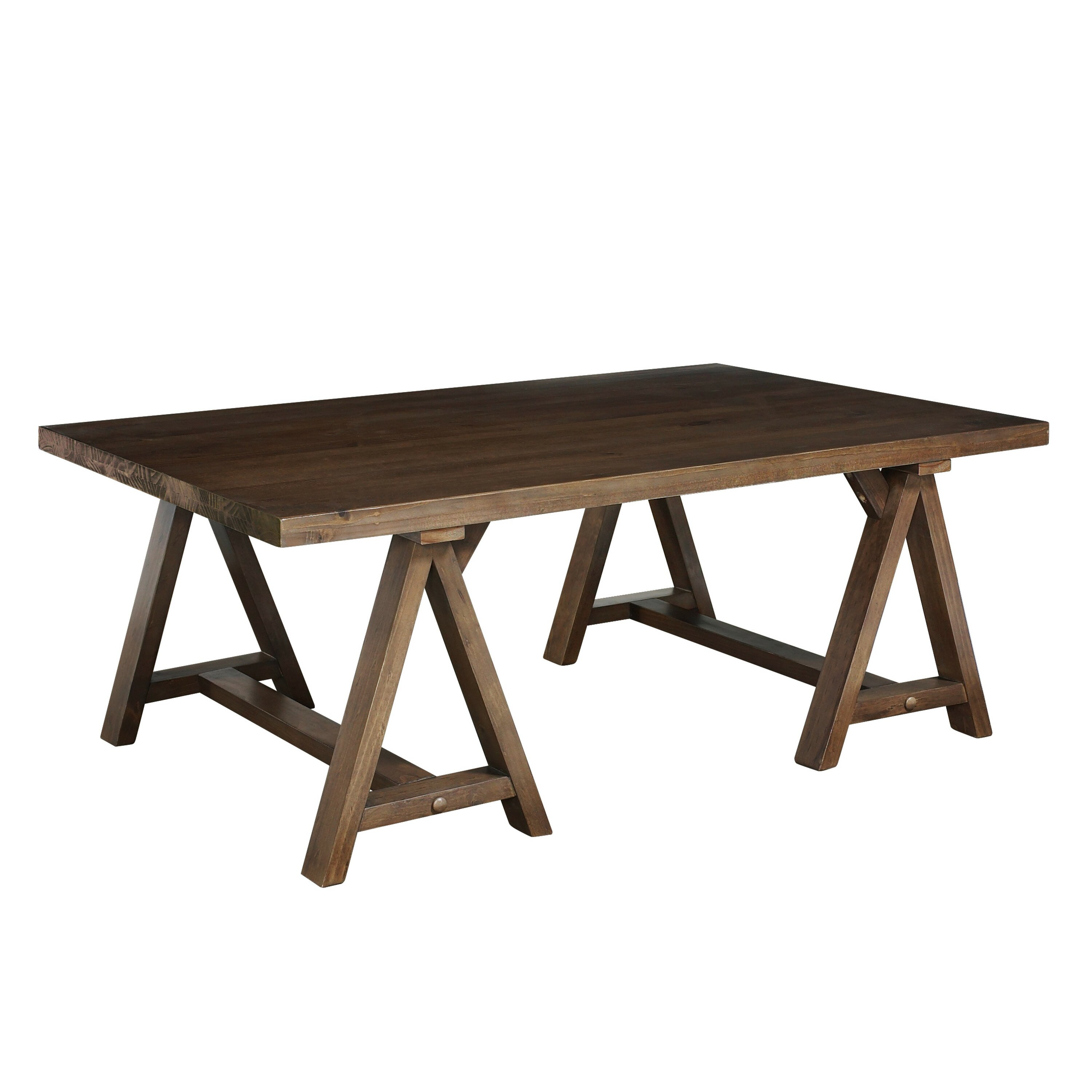 Simpli Home Sawhorse Coffee Table Reviews Wayfair