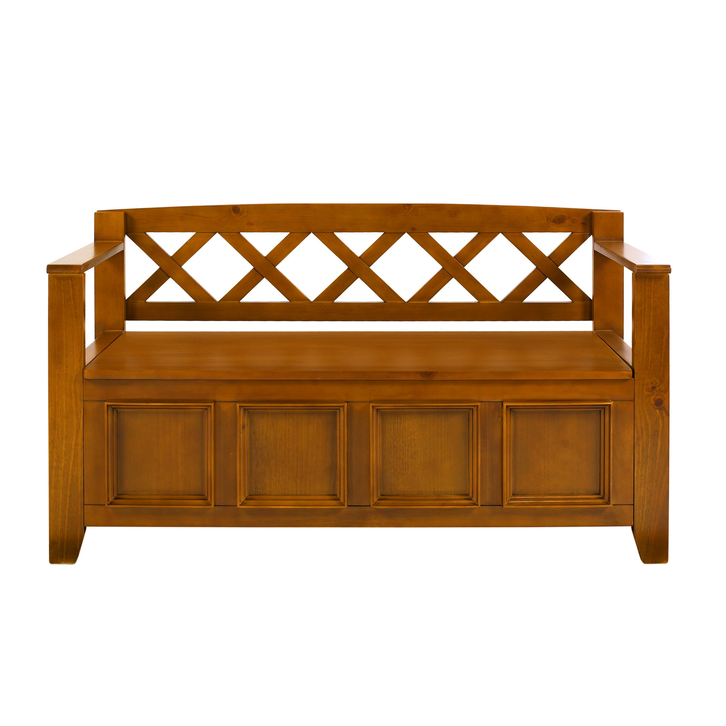 Simpli Home Amherst Wood Storage Entryway Bench Reviews Wayfair