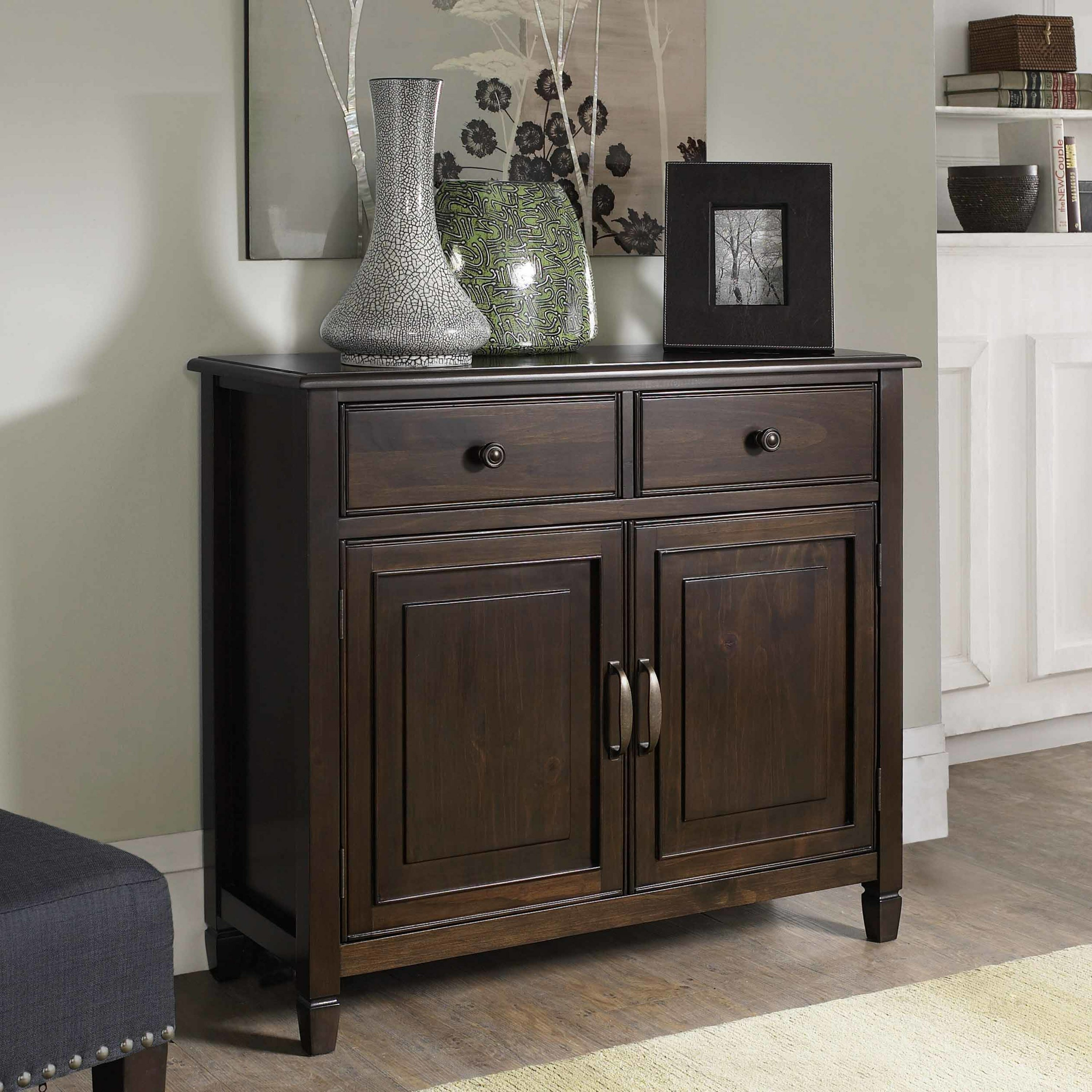 Foyer Shoe Storage Furniture : Simpli home connaught drawers and door entryway